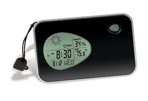 Travel Alarm Clock Digital Weather Thermometer Display Temperature Date Pocket