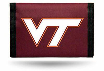 NCAA Virginia Tech Hokies Tri-Fold Nylon Wallet Durable Team Logo Rico ()