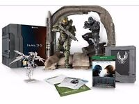 New Halo 5 Guardians Limited Collector's Edition Game Xbox One Steelbook Figures