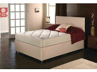 EXCLUSIVE SALE! Free Delivery! Brand New Looking! Double (Single + King Size) Bed & Basic Mattress