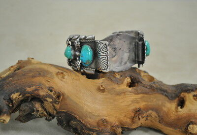 Navajo Made Vintage Turquoise Watch Cuff Band