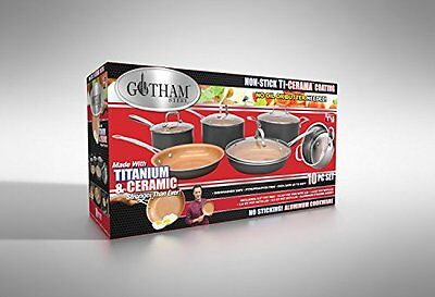 GOTHAM STEEL 10-Piece Kitchen Nonstick Frying Pan And Cookwa