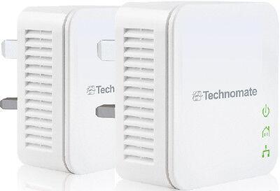 Power line Adapter Starter HomePlug AV Kit TM-600 HP 600Mbps High Speed...