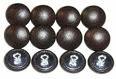12 Wire Eye Upholstery Buttons Espresso Brown Vinyl Choice Of Sizes 22 30 36 (Espresso Vinyl)