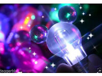 5 x SUPER BRIGHT FLASHING LED BULB KEYRING GREAT GIFT 7 COLOUR LED LIGHT BULBS.*