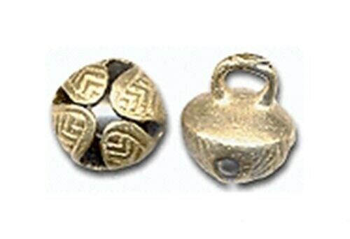 """100 solid BRASS JINGLE BELLS~ 19mm 3/4"""" ~ Heavy + Well designed + a Great RING!"""