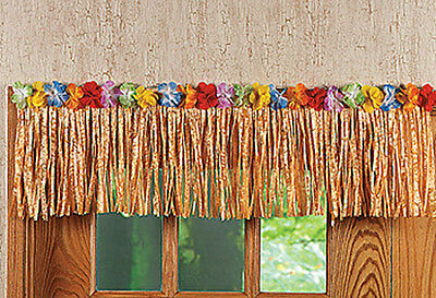 24Ft Tan/Natural Grass Table Skirt Fringe Luau Party Decor Hawaiian Beach Flower - Hawaiian Table Skirt