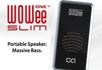Wowee One Slim Portable Speaker - Big Bass - Iphone Android NEW
