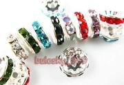 Rhinestone Spacer Beads 10mm
