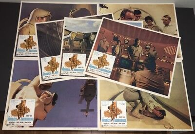 ANDROMEDA STRAIN (1971) ~ (7) MEXICAN LOBBY CARDS ~ SAME AS U.S., BUT IN SPANISH