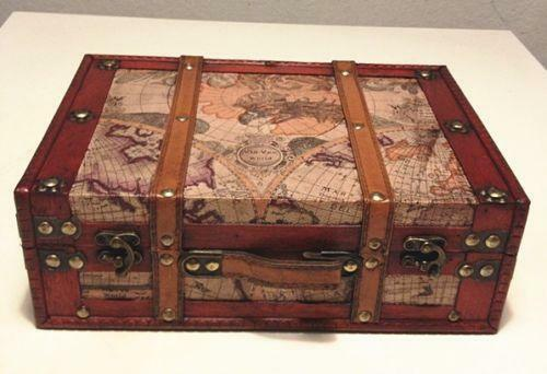 Wooden suitcase antiques ebay gumiabroncs Gallery