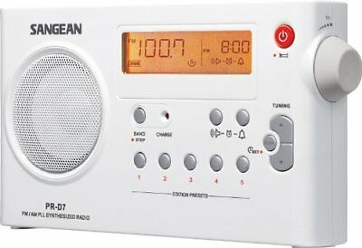 Sangean PR-D7 Digital Rechargeable AM/FM Radio - 5 x AM, 5 x