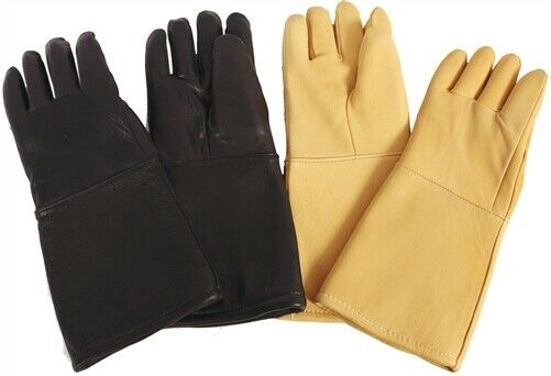 X-Ray Gloves, Pair, 0.5mm, Black Leather 15""
