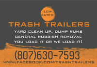 TRASH TRAILERS  Attention Roofers and Contractors  Dump Trailers