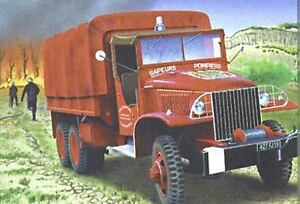 Heller-1-3-5-81119-Camion-GMC-POMPIER-kit-construccion