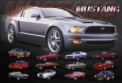 "Ford Mustang Bullitt 2019 Car Auto Silk Cloth Art Poster Print 24x36/"""