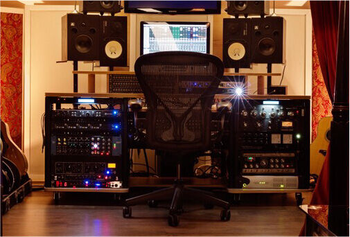 Production Station Studio Desk With Rack E