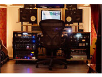 Production Station Studio Desk with Rack Space