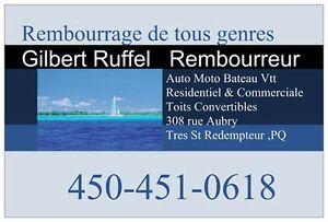 REMBOURREUR D'AUTO CLASSIQUE & BATEAU (RIGAUD ,QC)450-451-0618