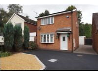 2 Bed Detached House with Garage in Norton Canes for Rent