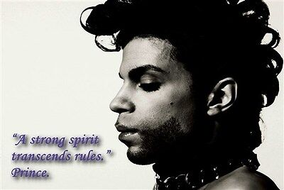 Super Pop Star Prince with quote poster print