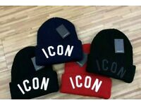 Dsquared ICON Embroided beanie hat