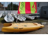 Laser fun boat sailing dinghy rotomolded catamaran