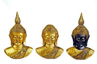 Fine Hand Carved Wooden Buddha Masks from Thailand