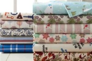 KING SIZE 100% COTTON 4 PIECE  BED SHEET SETS PRINTED