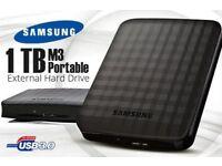 Samsung M3 USB 3.0 External Hard Drive 1TB - 1000GB Memory Stick in Black, not Maxtor, Toshiba, WD