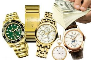 ACHETONS MONTRES $$____WE BUY WATCHES $_ESTIMATION_ON SE DÉPLACE