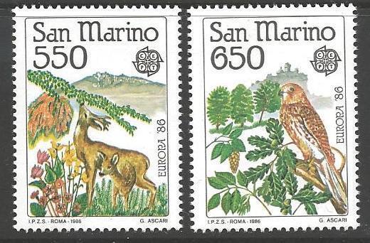 SAN MARINO SG1269/70 1986 EUROPA MNH