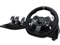 Logitech g920 Xbox one and PC! Steering wheel!
