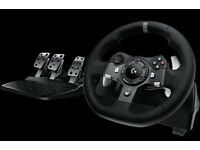 2x Logitech G920 Driving Force Steering Wheel With Pedals (Xbox One/PC)