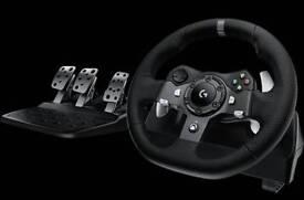 Logitech G920 Force Feedback Steering Wheel And Gear Shifter