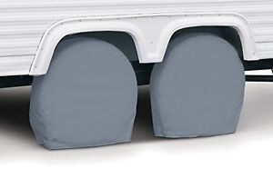 Classic Accessories 80-082-141001-00 RV Wheel Cover, Pair, Grey,