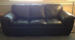 Quality 3 Piece Furniture Leather Couch Set - Excellent Cond.