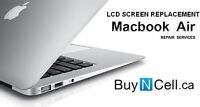 MACBOOK AIR LCD REPLACEMENT - 5 STORES + WARRANTY