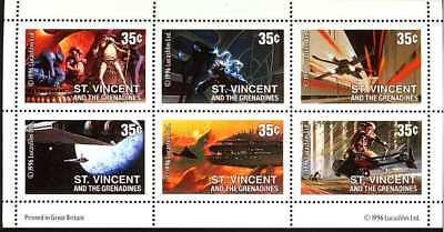 ST VINCENT 1996 STAR WARS STAMPS SHEET OF 6 - Scott 2269a - MNH