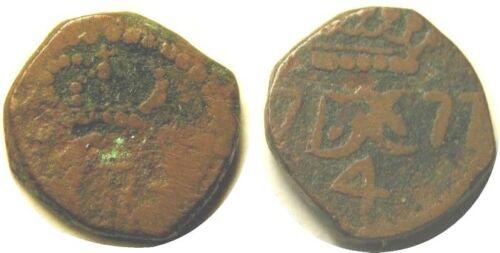 elf India Danish Tranquebar 4 Cash 1777  Christian VII