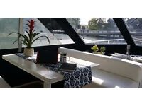 Hire out this yacht as workspace / meeting space during the day