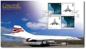 FIRST DAY COVER, BUCKINGHAM COVERS CONCORDE DESIGN CLASSICS SE-TENANT GB STAMPS