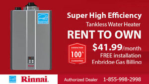 Tankless Water Heater Rent to Own - CALL TODAY