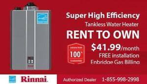 Tankless Water Heater Rent to Own - FREE Installation - $0 Down