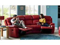 DFS - Daytona 4 seat leather settee with dual recliners