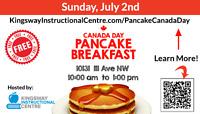 FREE Canada Day Pancake Breakfast