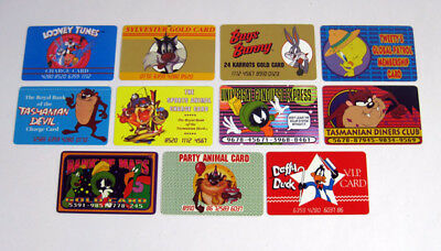 1989 Warner Brothers Credit / Wallet Card Set (11) Bugs Bunny Tweety Daffy Duck