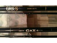 2x greys beach rods. (Fixed spool)