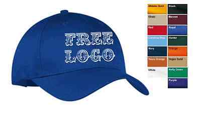 12 Custom Embroidered FREE LOGO * Caps Hats EMBROIDERY Baseball SOFTBALL * NEW