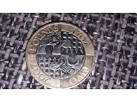 Rare 2007 £2 coin celebrating the union.